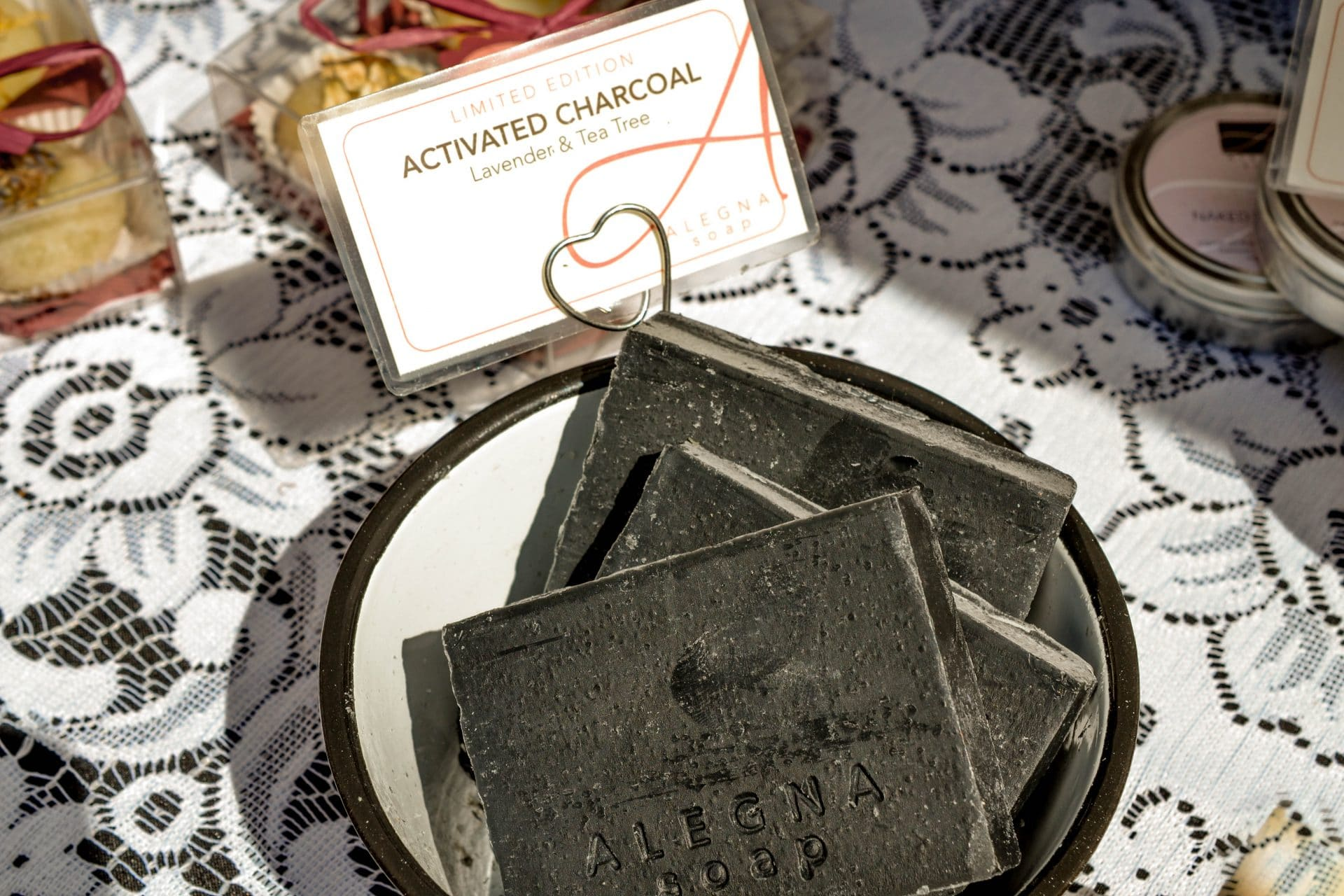 Alegna Soap® Activated Charcoal harcoal soap