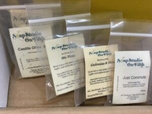 Packaging soap samples