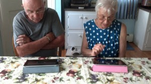 Dad & Mom with iPads