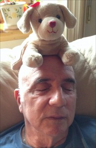 Dad with puppy alegnasoap_com