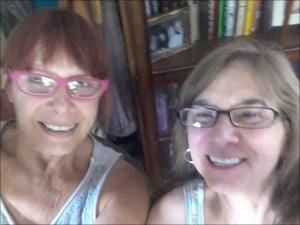 Diane & Angela Soapy Selfie(1)