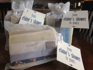 Alegna Soap baby shower favors