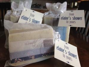 Elaine's soap shower favors