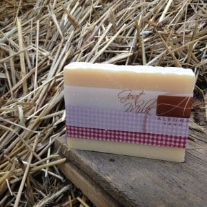 Goat Milk soap in the Hay