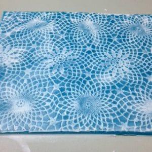 "Alegna Soap® making the ""lace"""