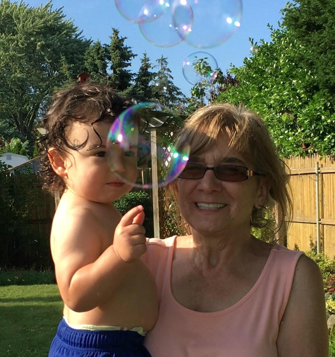 Soap, bubbles and grandchildren