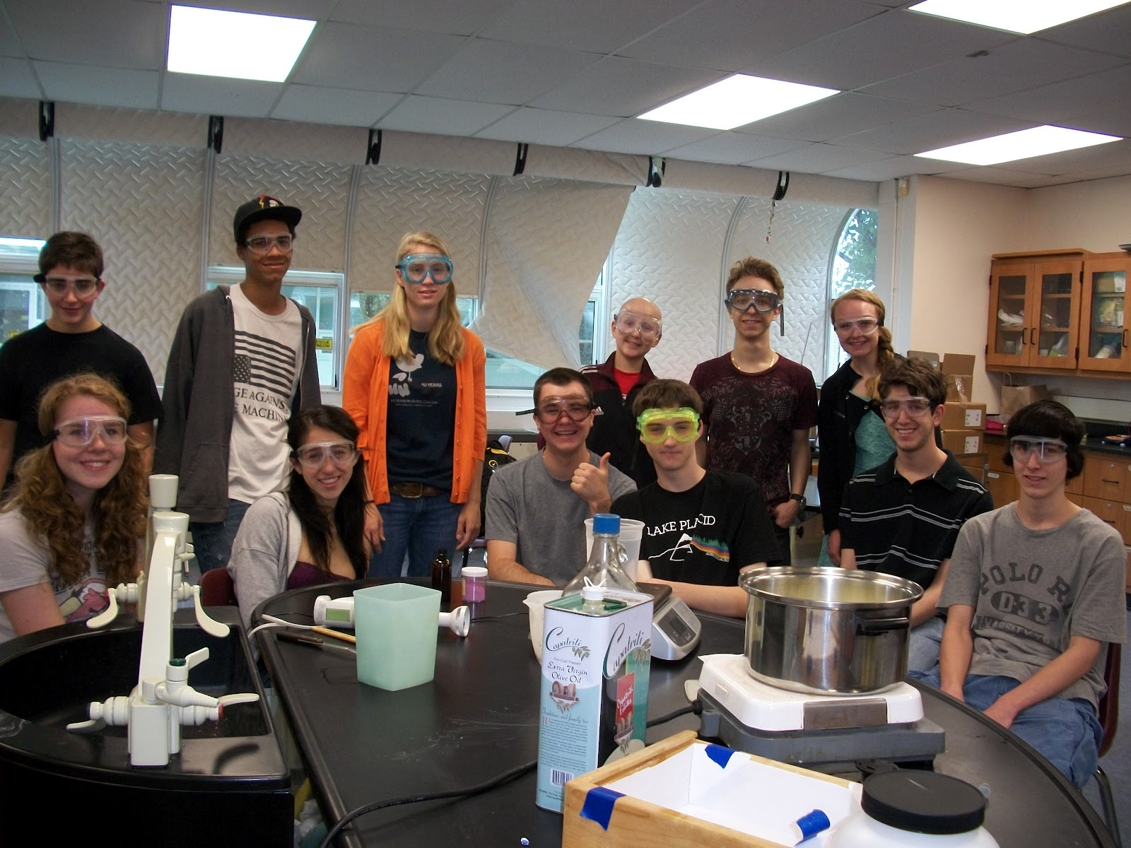Teaching soapmaking to Chemistry students