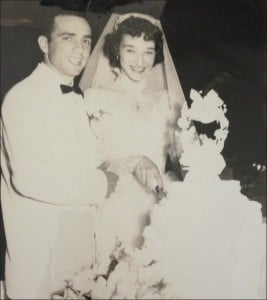 My parents at their wedding in 1955
