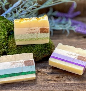 Alegna Soap® Peppermint Scrub, Lavender, Lavender Lemongrass Christmas Celebration