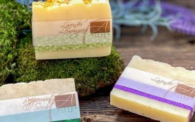 Alegna Soap® Peppermint Scrub, Lavender, Lavender Lemongrass