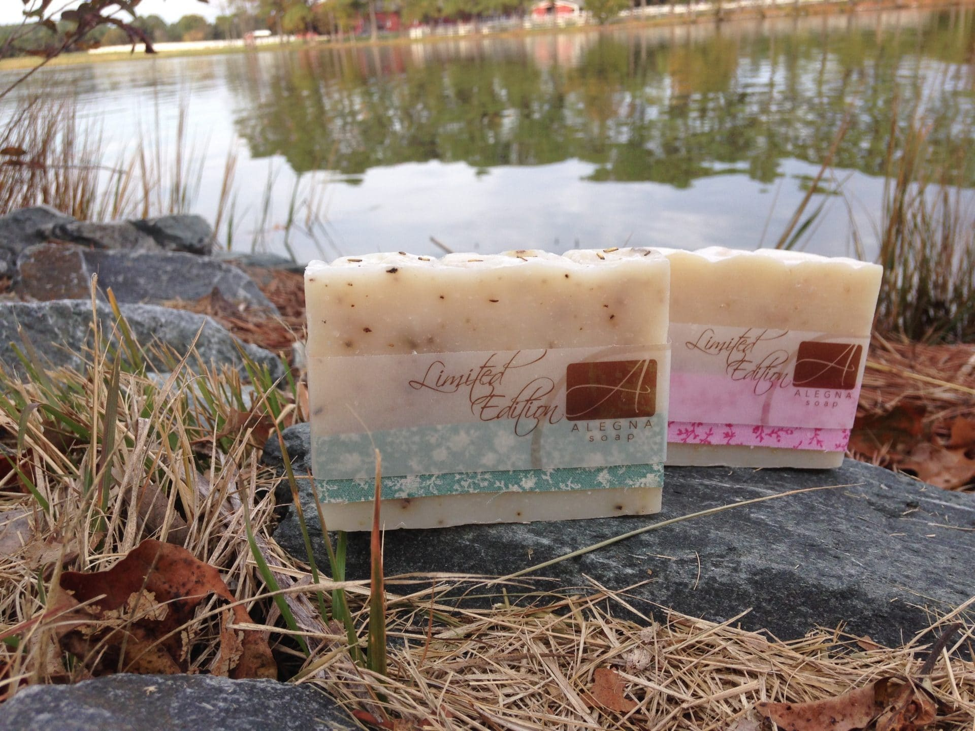 Photo Friday-  Rosemary Lavender and Lavender Oatmeal soaps