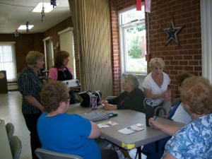 Senior center soapmaking