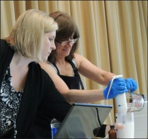 Making Lotion with Marla at the Soap Conference