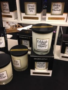 Sparklefly Candles at the Long Island Woman's Expo