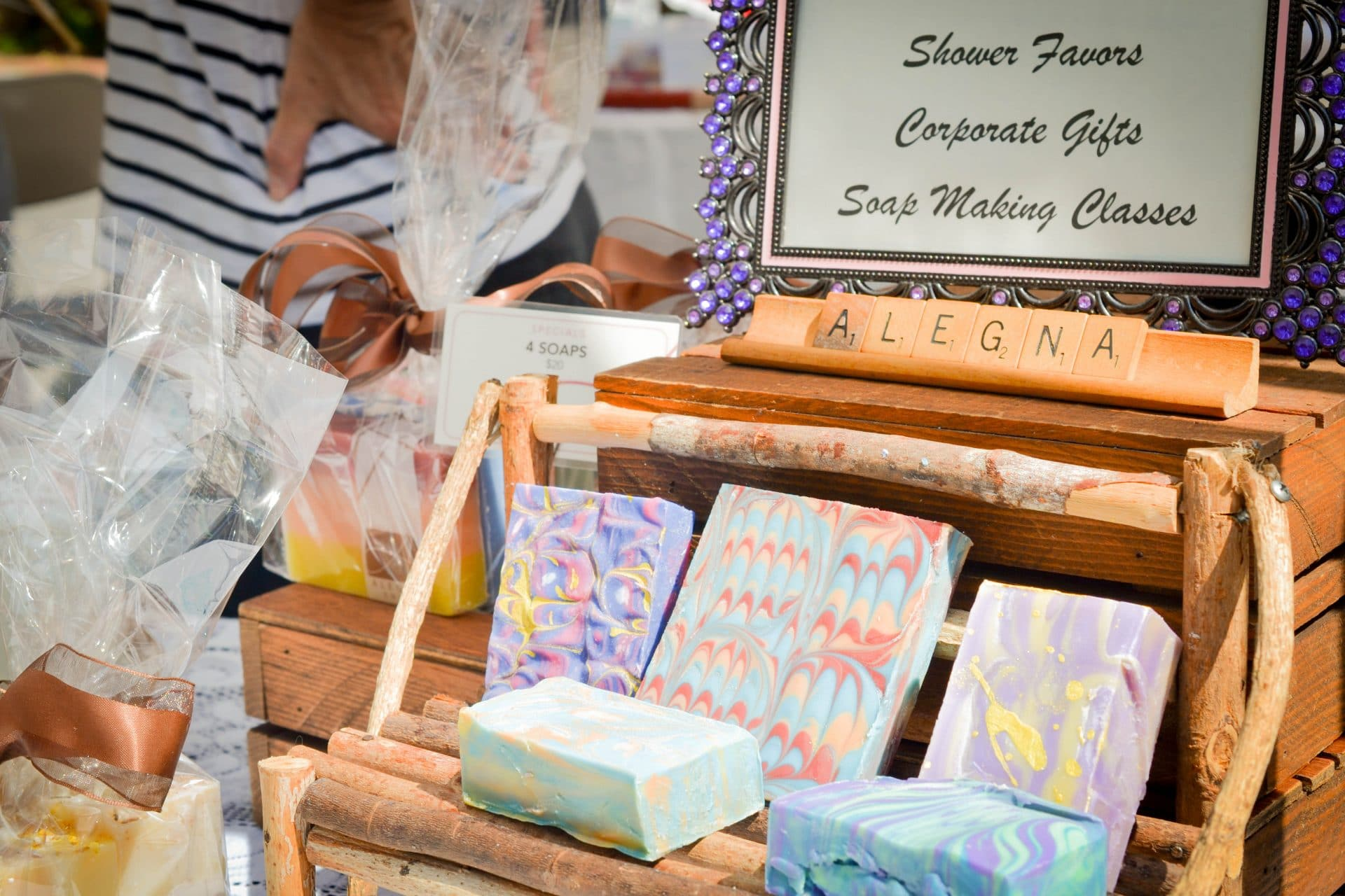 Alegna Soap® events and fairs